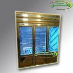 ساخت سفارشی یخچال ایستاده استیل طلایی