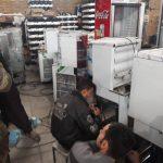 خط تولید آب سرد کن استیل صنعتی در کارخانه
