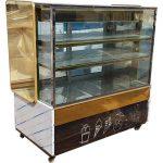 یخچال ویترینی بستنی استیل طلایی