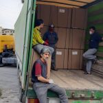 تحویل فریزر صندوقی مشتری از کرمانشاه